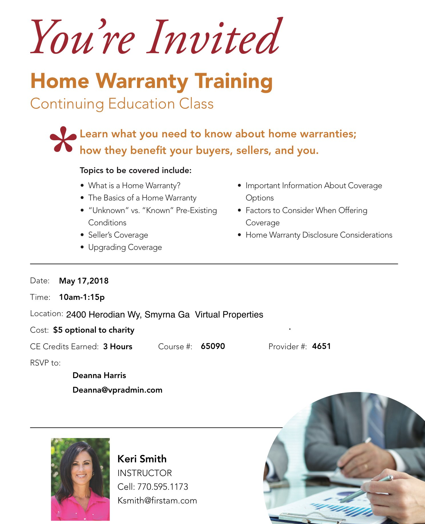 First American Home Warranty Presents Home Warranty Training